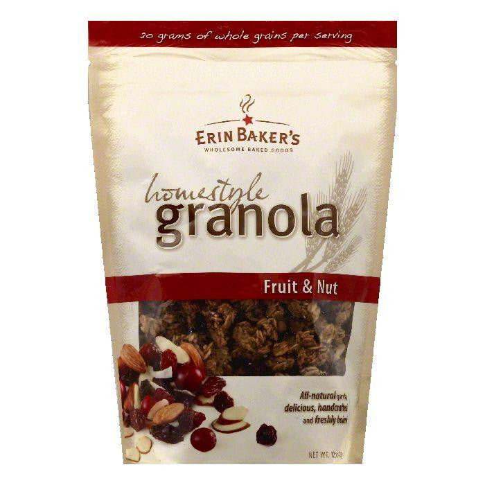 Erin Bakers Fruit & Nut Homestyle Granola, 12 OZ (Pack of 6)