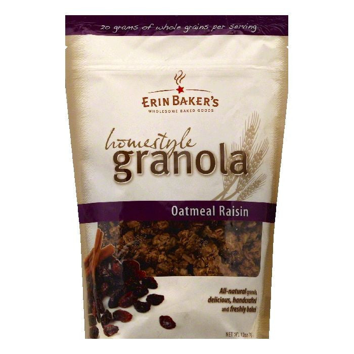 Erin Bakers Oatmeal Raisin Homestyle Granola, 12 OZ (Pack of 6)