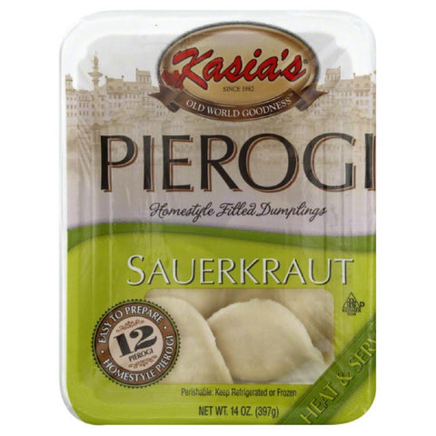 Kasias Sauerkraut Pierogies, 14 Oz (Pack of 6)