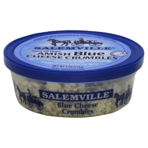Salemville Amish Blue Cheese Crumbles, 4 Oz (Pack of 12)