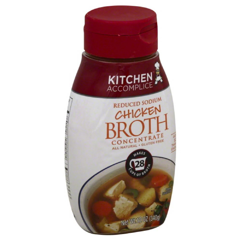 Kitchen Accomplice Reduced Sodium Chicken Broth Concentrate, 12 Oz (Pack of 6)