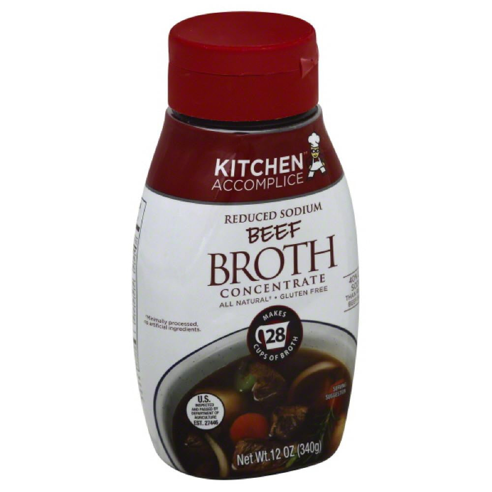 Kitchen Accomplice Reduced Sodium Beef Broth Concentrate, 12 Oz (Pack of 6)