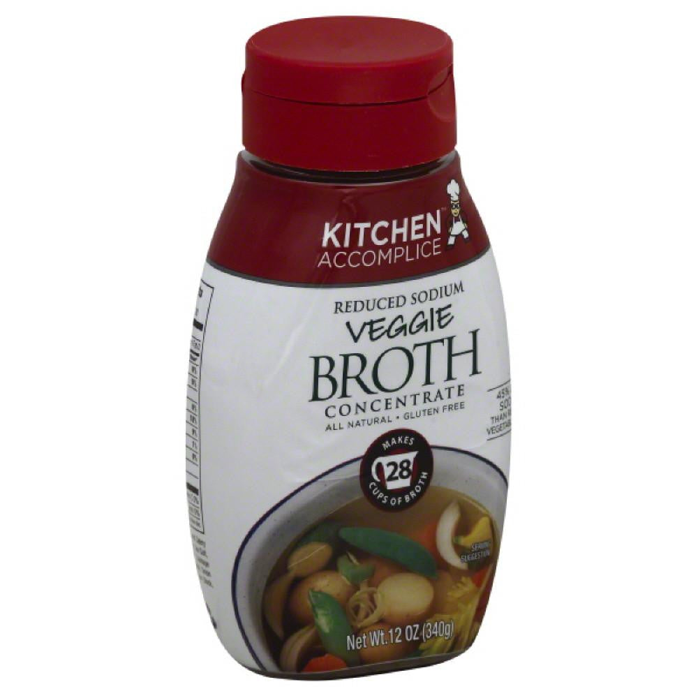 Kitchen Accomplice Reduced Sodium Veggie Broth Concentrate, 12 Oz (Pack of 6)