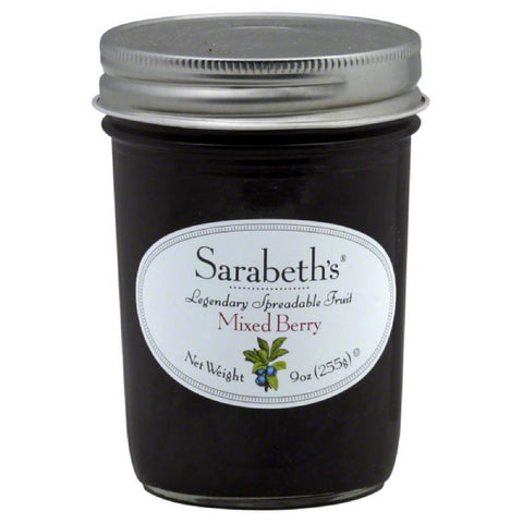 Sarabeths Mixed Berry Spreadable Fruit, 9 Oz (Pack of 6)