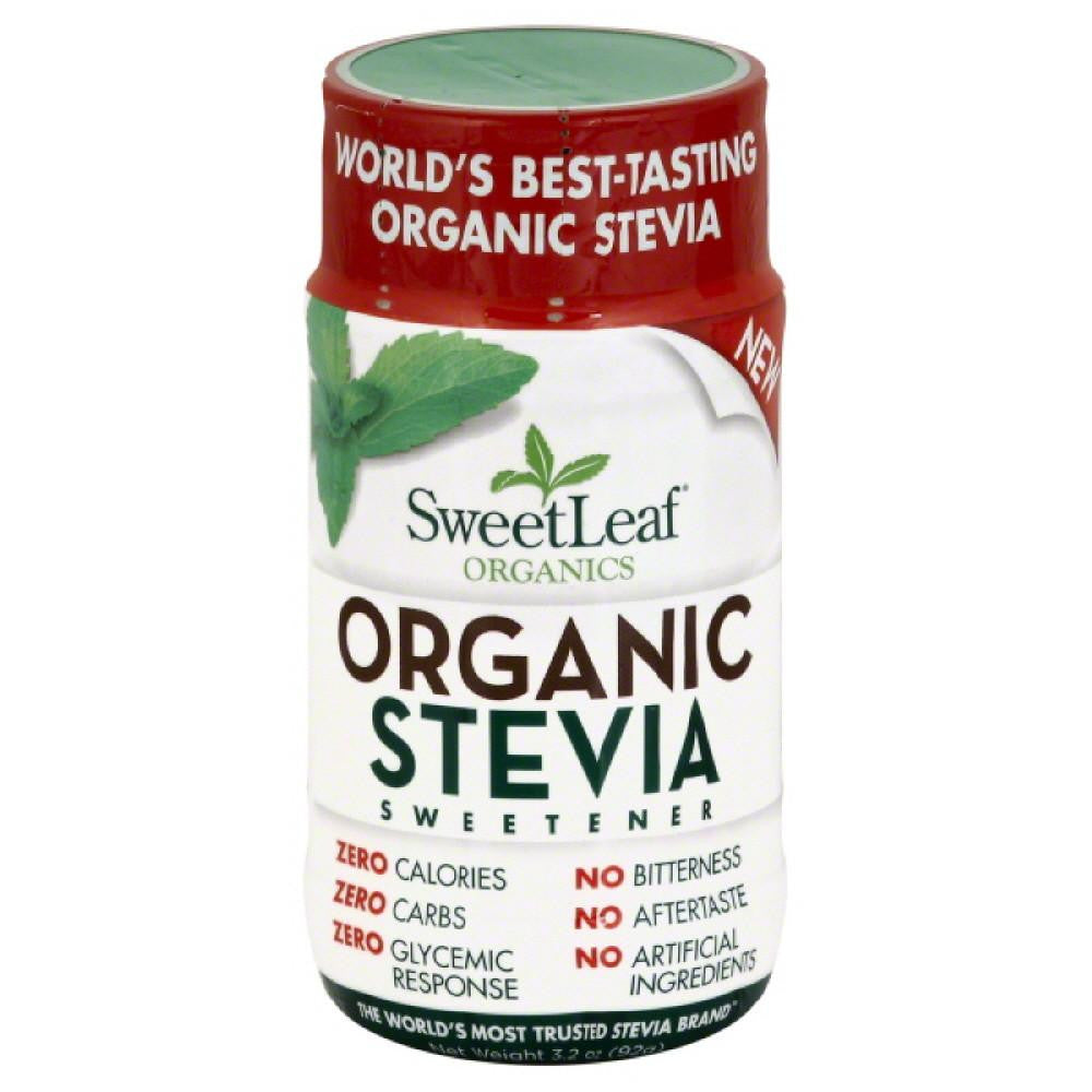 SweetLeaf Organic Stevia Sweetener, 3.2 Oz (Pack of 12)