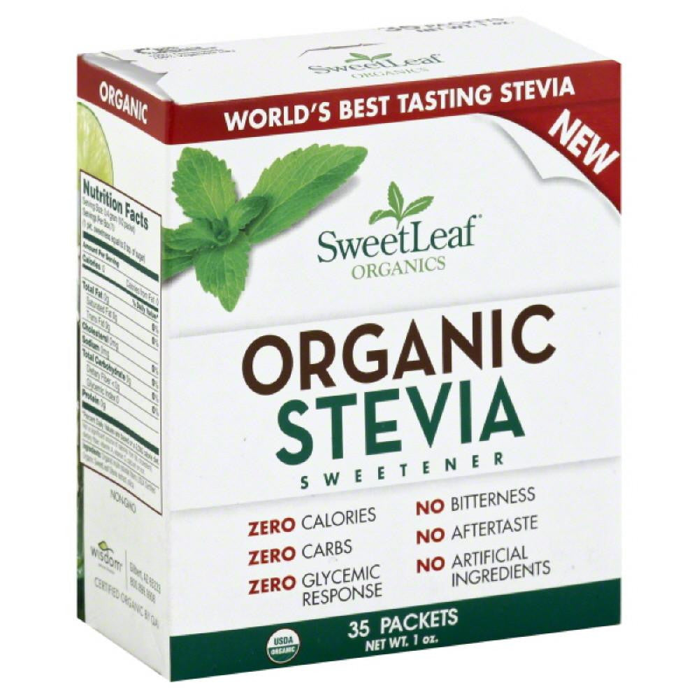 SweetLeaf Organic Stevia Sweetener, 35 Pc (Pack of 12)