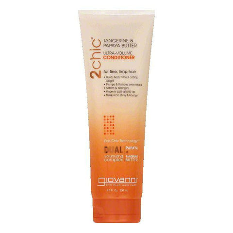 Giovanni Tangerine & Papaya Butter Ultra-Volume Conditioner, 8.5 Oz (Pack of 3)