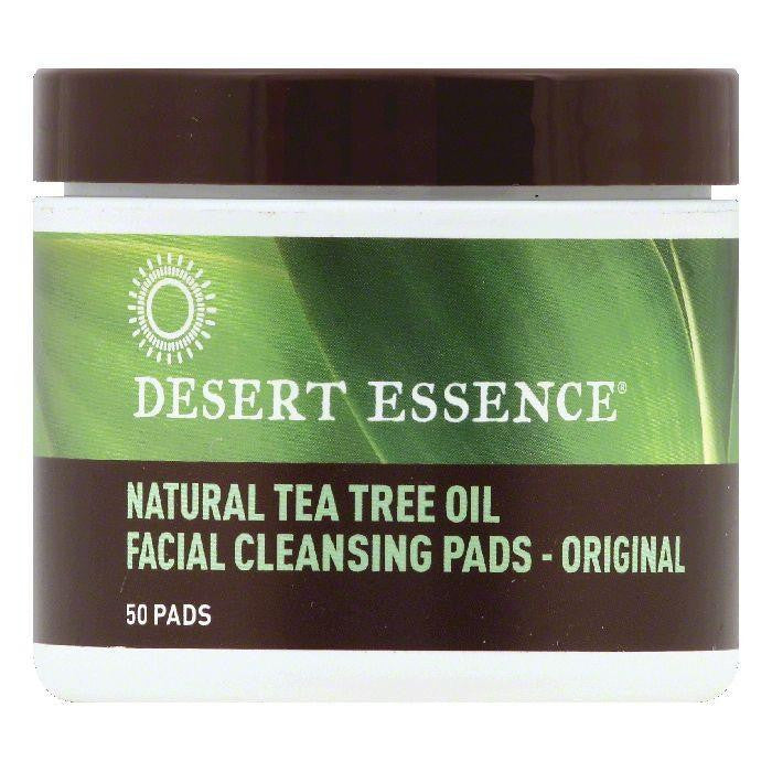 Desert Essence Natural Tea Tree Oil Original Facial Cleansing Pads, 50 ea (Pack of 3)