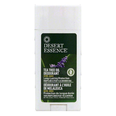 Desert Essence Tea Tree Oil Deodorant, 2.5 OZ (Pack of 3)