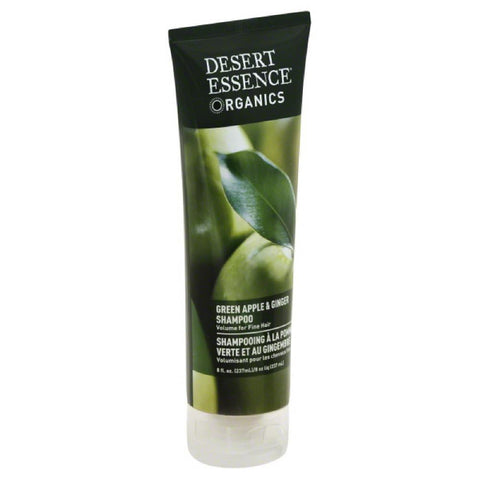 Desert Essence Green Apple & Ginger Shampoo, 8 Oz (Pack of 3)