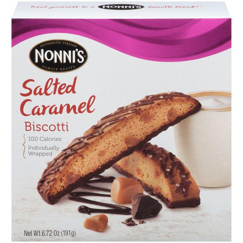 Nonni's Salted Caramel Biscotti 6.72 Oz (Pack of 12)
