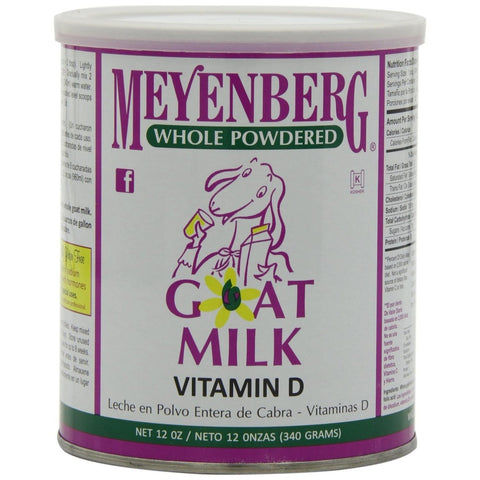 Meyenberg Goat Milk Whole Powdered Can, 12 OZ (Pack of 12)