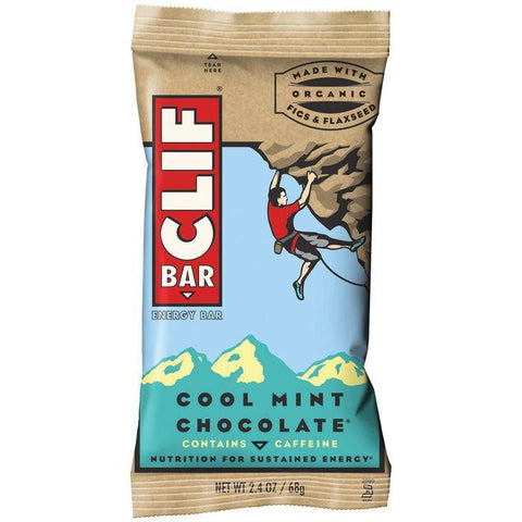 CLIF Bar Cool Mint Chocolate Energy Bar 2.4 Oz (Pack of 12)