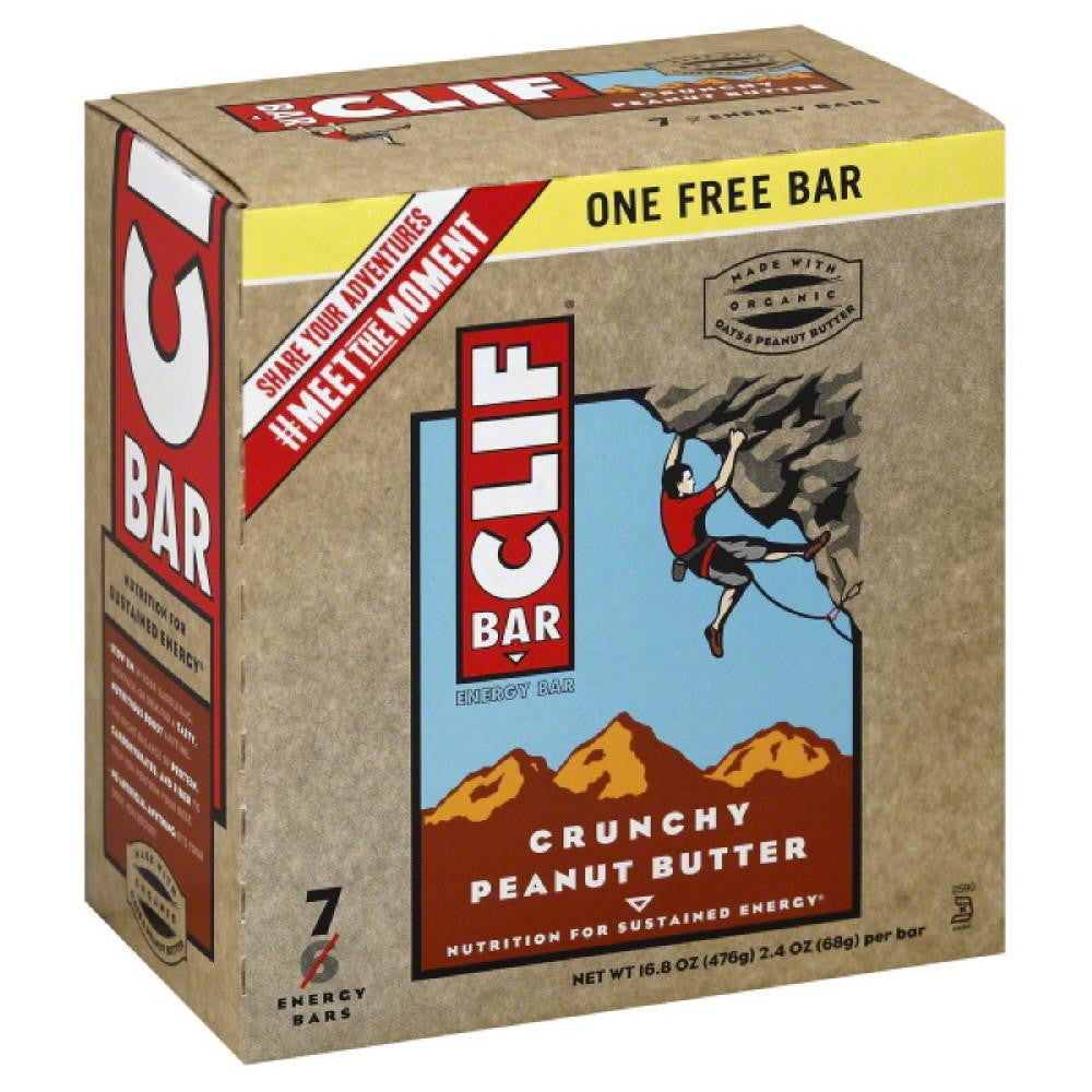 Clif Crunchy Peanut Butter Energy Bars, 19.52 Oz (Pack of 6)