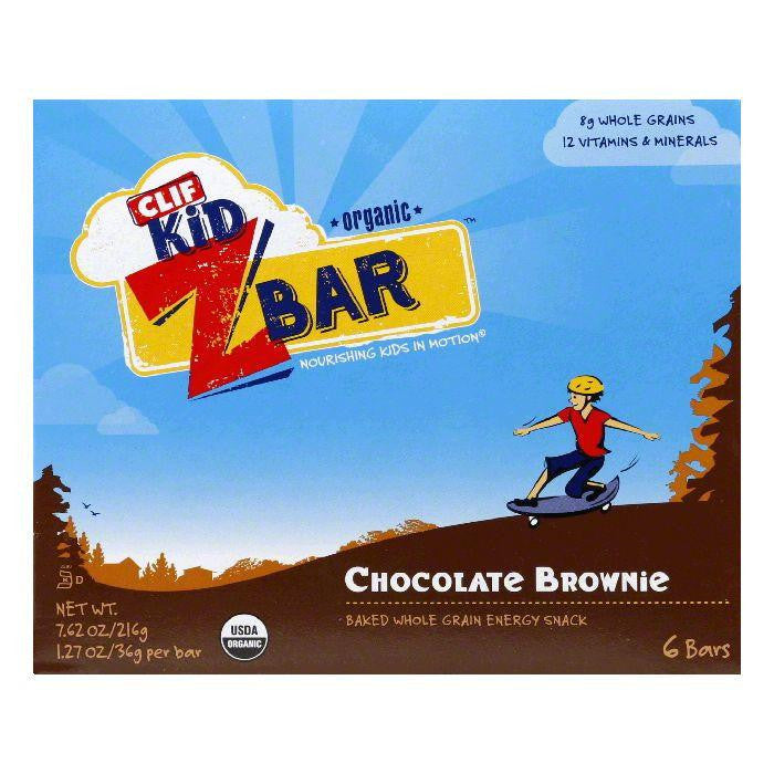 Clif Bar Organic ZBar Chocolate Brownie, 7.62 OZ  (Pack of 9)