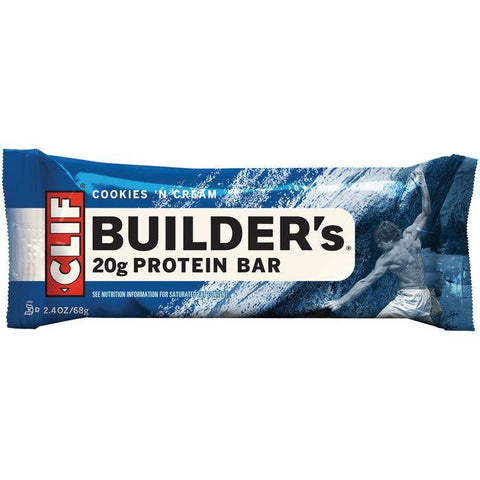 CLIF Builder's Cookies 'n Cream Protein Bar 2.4 Oz (Pack of 12)