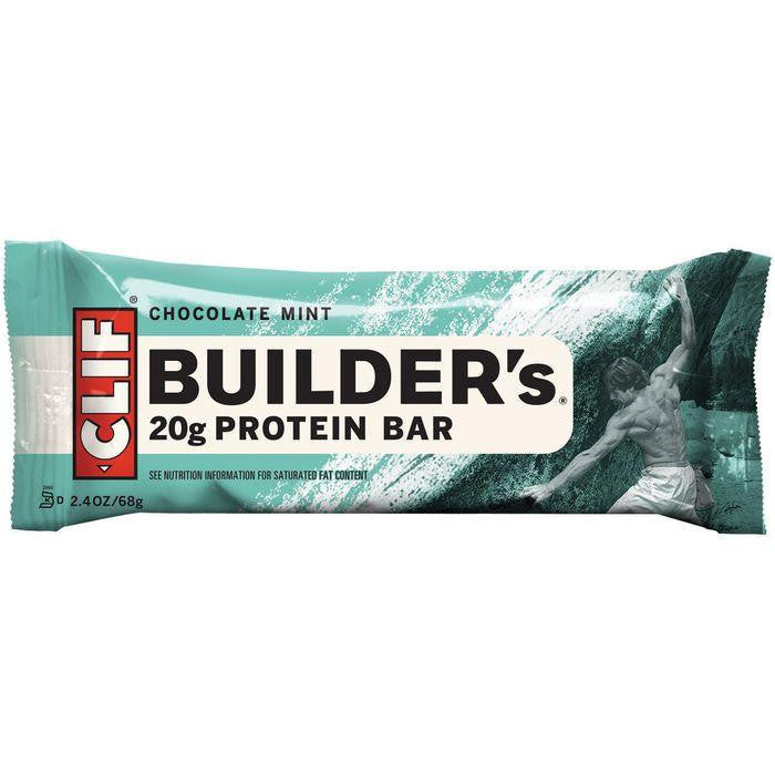 CLIF Builder's Chocolate Mint Protein Bar 2.4 Oz (Pack of 12)