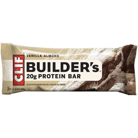 CLIF Builder's Vanilla Almond Protein Bar 2.4 Oz (Pack of 12)