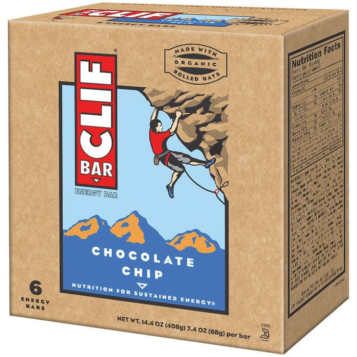 CLIF Bar Chocolate Chip Energy Bars 6 ct (Pack of 9)