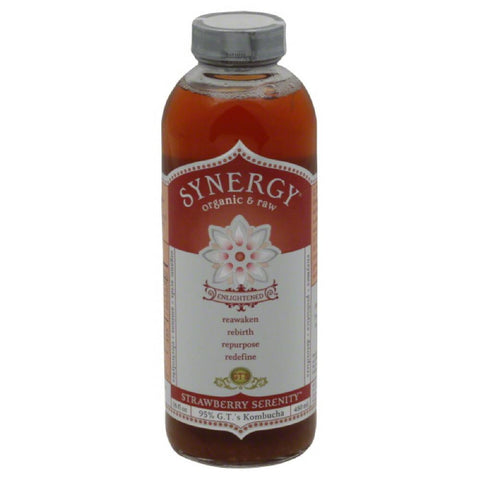 GTs Strawberry Serenity Kambucha, 16 Fo (Pack of 12)