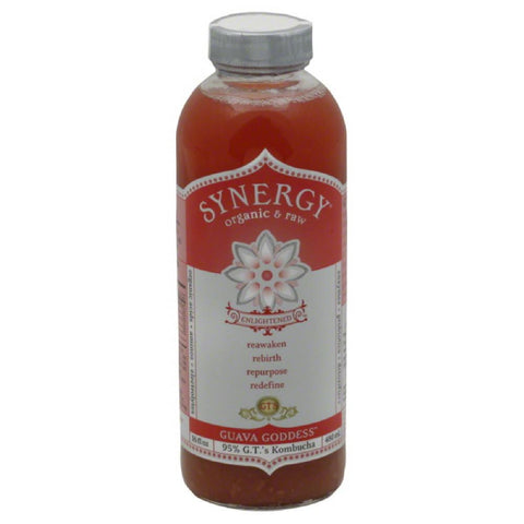 GTs Guava Goddess Kombucha, 16 Fo (Pack of 12)