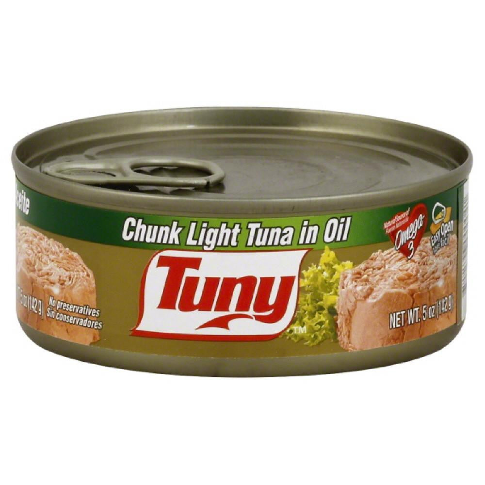 Tuny Chunk Light Tuna in Oil, 5 Oz (Pack of 24)