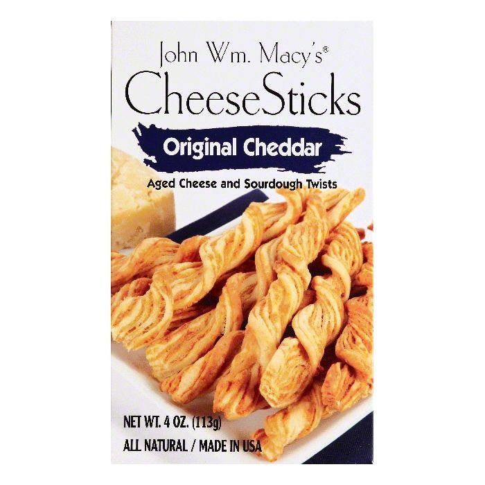 John Wm Macys Original Cheddar CheeseSticks, 4 OZ (Pack of 8)