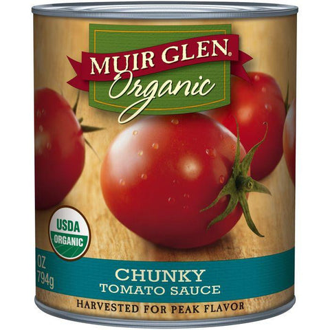 Muir Glen Organic Chunky Tomato Sauce 28 Oz (Pack of 6)