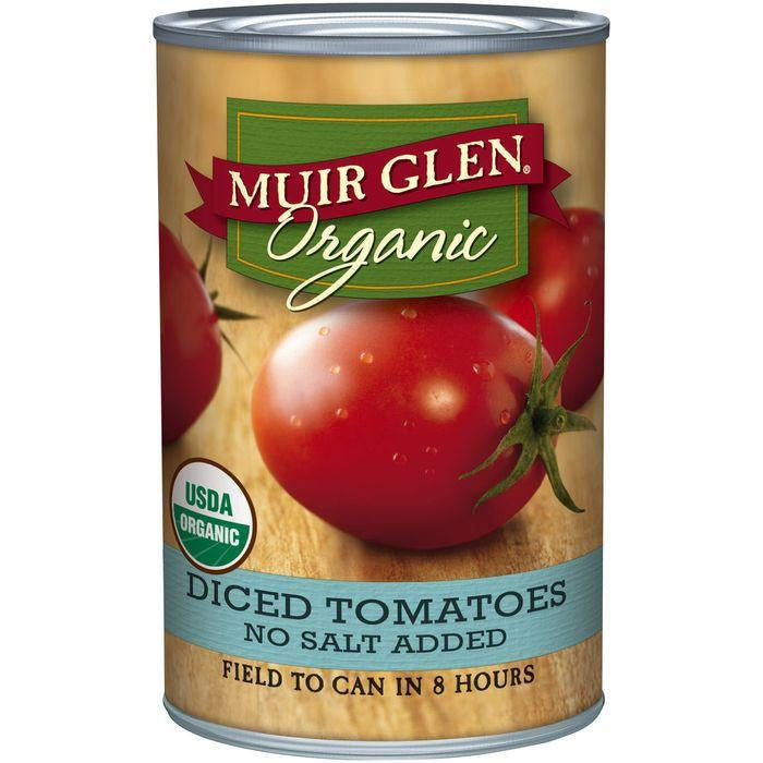 Muir Glen Organic Diced Tomatoes No Salt Added 14.5 Oz (Pack of 12)