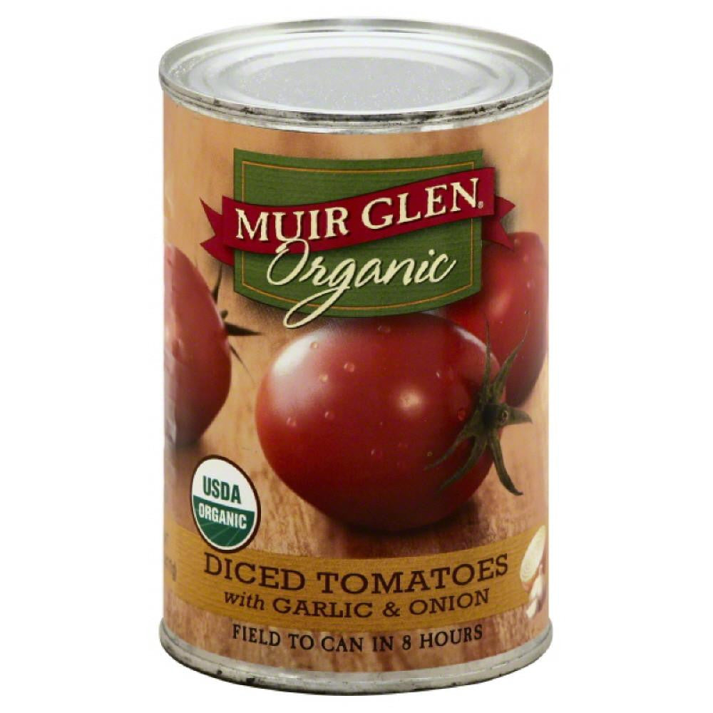 Muir Glen Diced Tomatoes with Garlic & Onion, 14.5 Oz (Pack of 12)