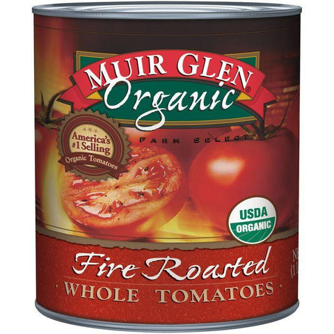 Muir Glen Organic Fire Roasted Whole Tomatoes 28 fl. Oz (Pack of 12)