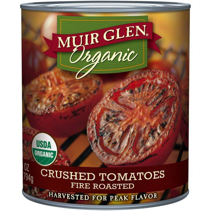 Muir Glen Organic Fire Roasted Crushed Tomatoes 28 Oz (Pack of 12)