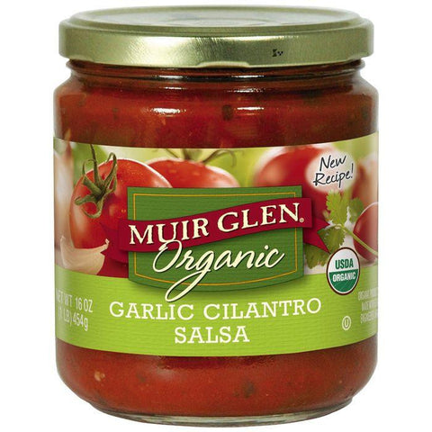Muir Glen Organic Garlic Cilantro Salsa 16 Oz (Pack of 6)
