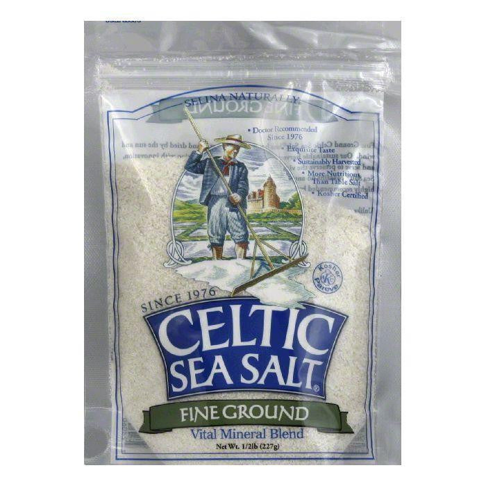 Celtic Sea Salt Fine Ground Pouch, 8 OZ (Pack of 6)