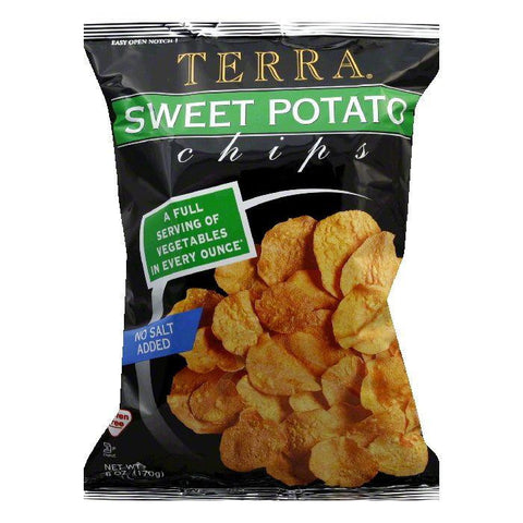 Terra Chips Chips Sweet Potato Plain, 6 OZ (Pack of 12)