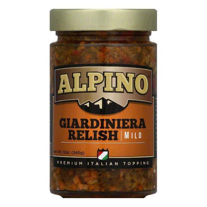 Alpino Mild Giardiniera Relish, 12 Oz (Pack of 6)