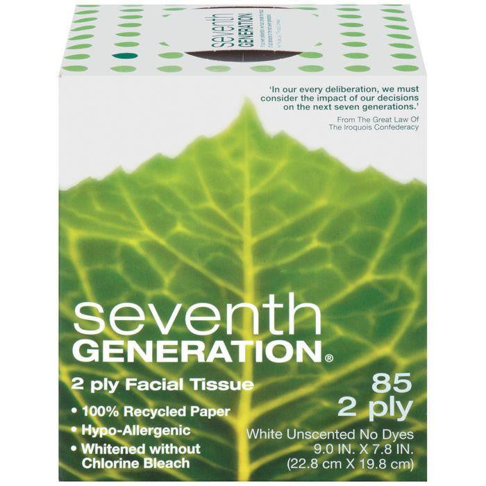 Seventh Generation White Unscented 2 Ply Facial Tissue 85 Ct (Pack of 36)