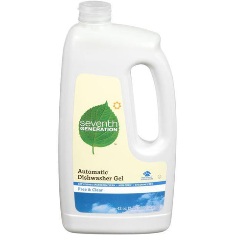 Seventh Generation Free & Clear Automatic Dishwasher Gel 42 Oz Plastic Jug (Pack of 6)