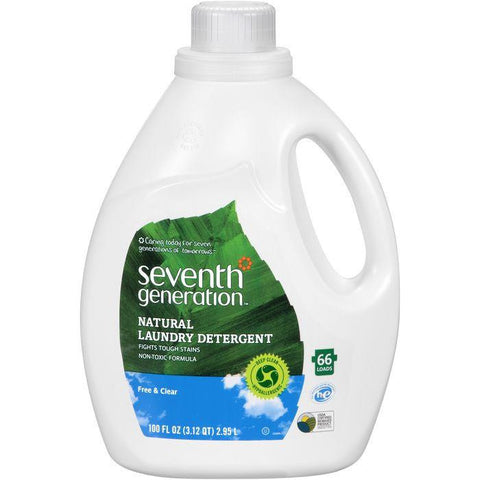Seventh Generation Free & Clear Natural Laundry Detergent 100 fl. Oz Jug (Pack of 4)