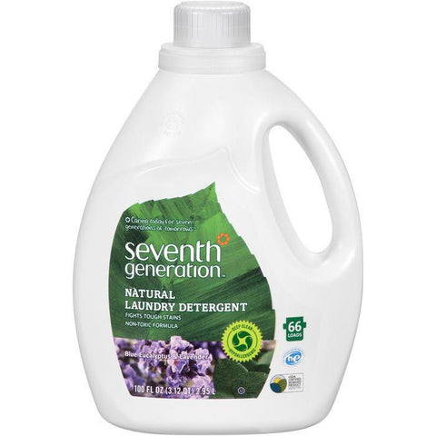 Seventh Generation Blue Eucalyptus & Lavender Natural Laundry Detergent 100 fl. Oz Jug (Pack of 4)