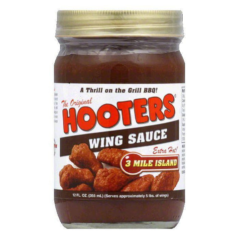 Hooter's Wing Sauce Three Mile Island, 12 OZ (Pack of 6)