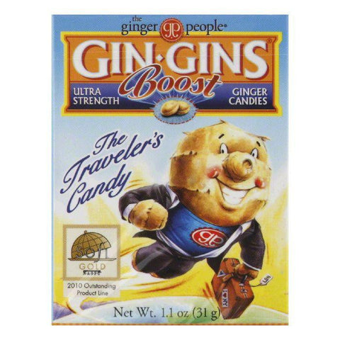 The Ginger People Gingin boost trvl pk, 1.1 OZ (Pack of 24)