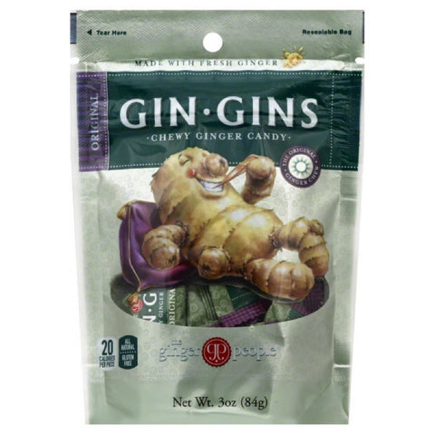 The Ginger People Original Chewy Ginger Candy, 3 Oz (Pack of 24)