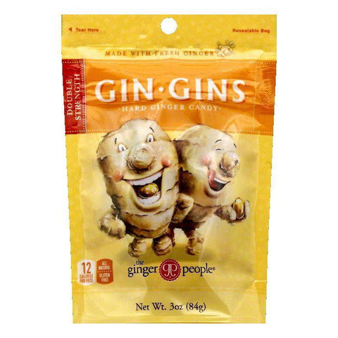 The Ginger People Double Strength Hard Ginger Candy, 3 OZ (Pack of 24)