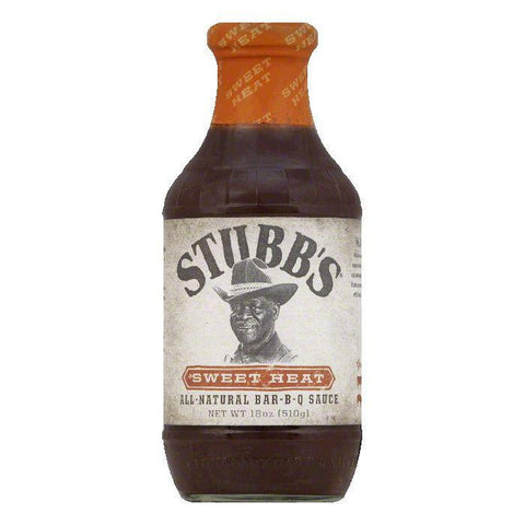 Stubb's Sweet Heat BBQ Sauce, 18 OZ (Pack of 6)