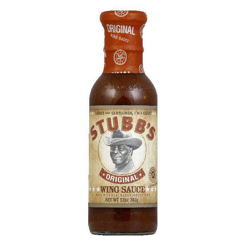 Stubb's Wicked Chicken Wing Original, 12 OZ (Pack of 6)
