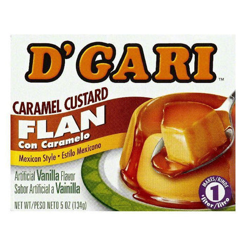 D Gari Caramel Custard Flan, 5 OZ (Pack of 24)