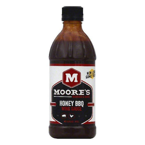 Moores Honey BBQ Wing Sauce, 16 OZ (Pack of 6)