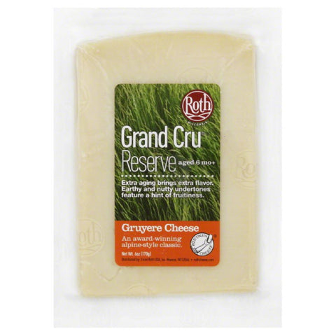 Roth Grand Cru Reserve Gruyere Cheese, 6 Oz (Pack of 12)