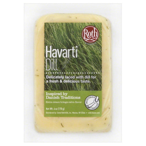Roth Dill Havarti Cheese, 6 Oz (Pack of 12)